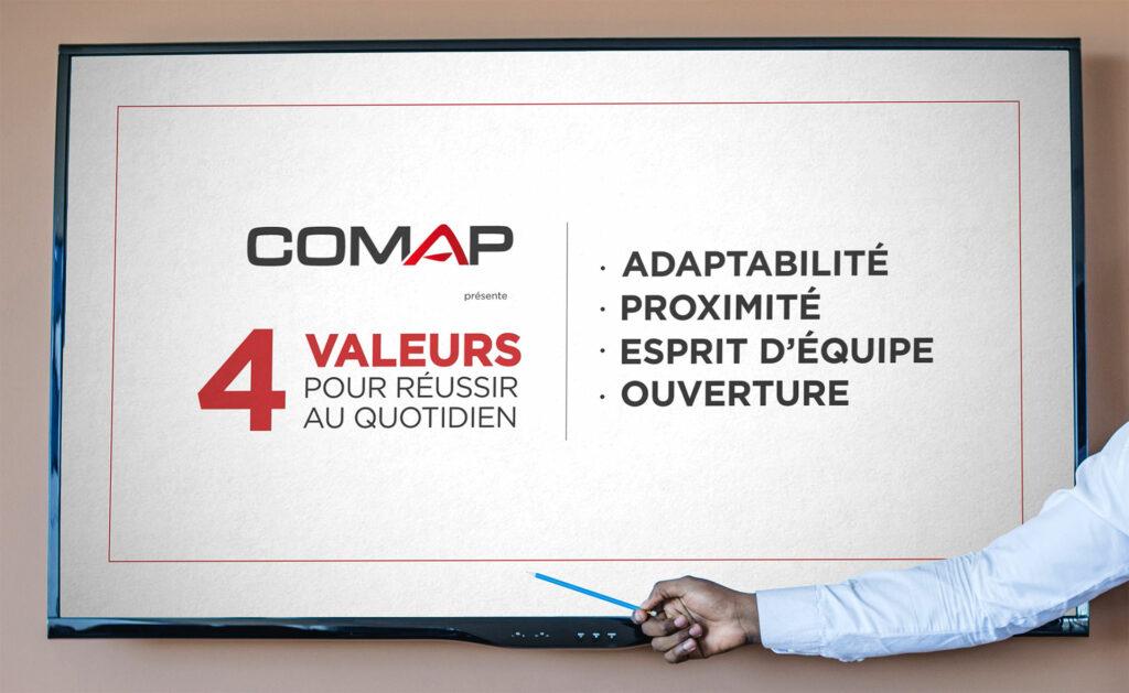 Comap 4 valeurs pour réussir au quotidien