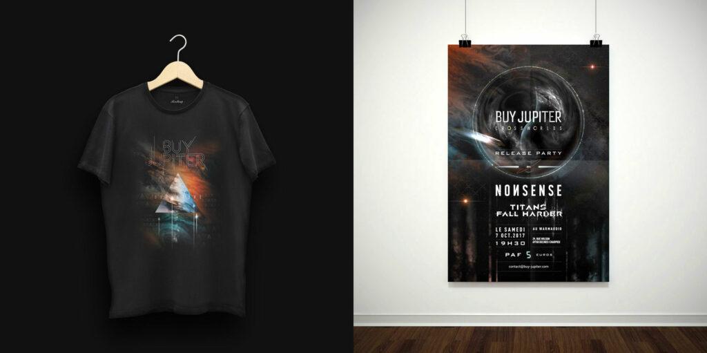 t-shirt et affiche Buy Jupiter