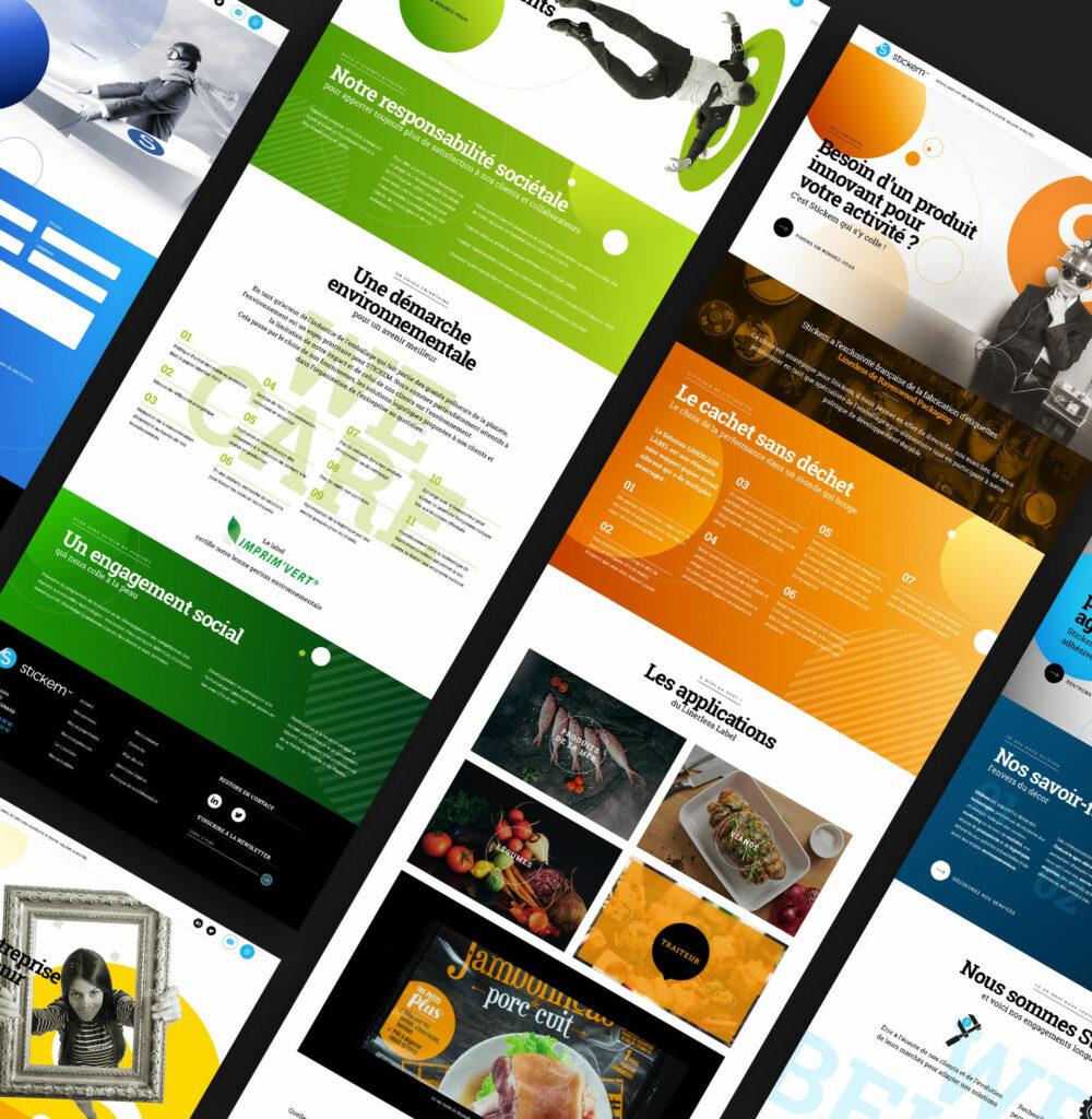 pages du site Stickem