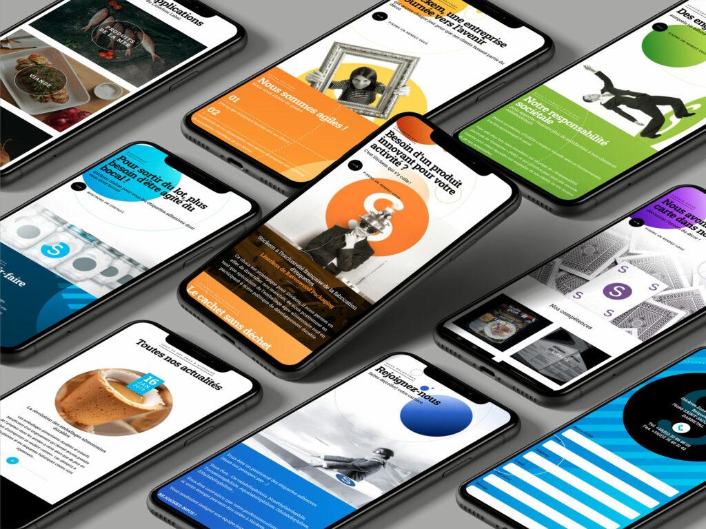 site Stickem sur mobile