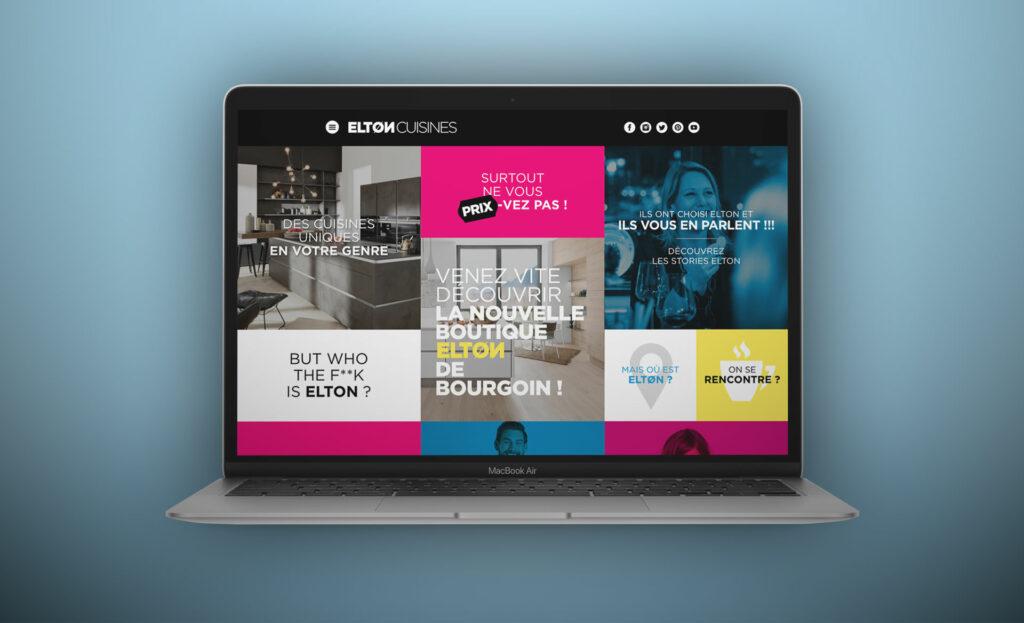 page d'accueil du site Elton Cuisines