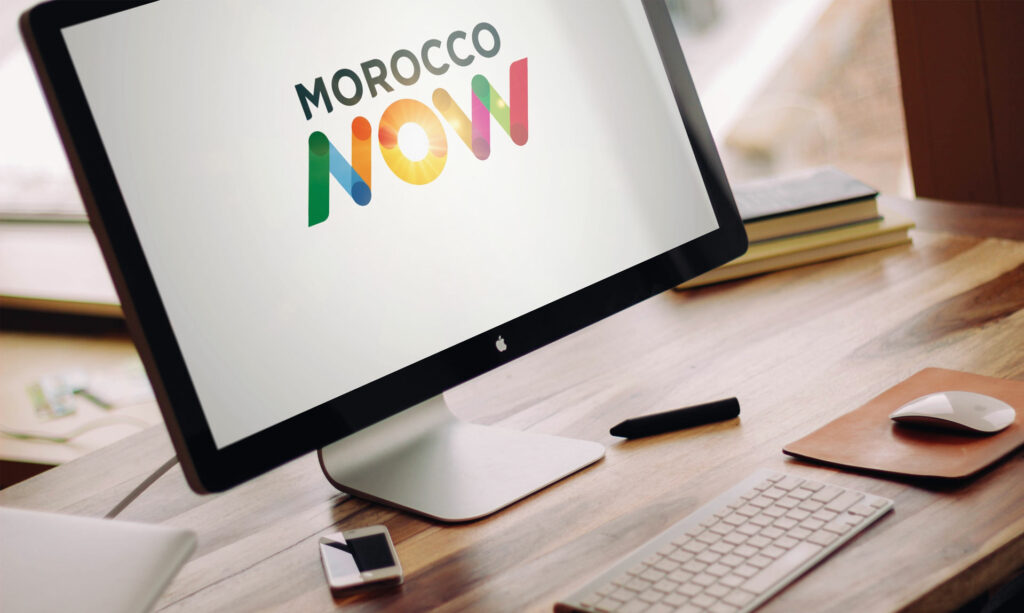 animation logo Morocco Now