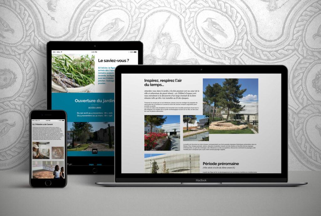 site responsive musée de la romanité