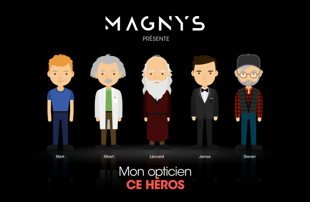 icônes pop culture motion Magnys