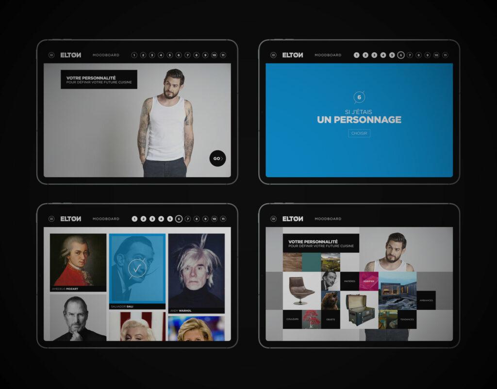 application tablette parcours client in store