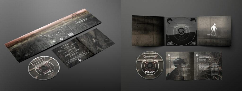 album Misery digipack, livret et rond de CD