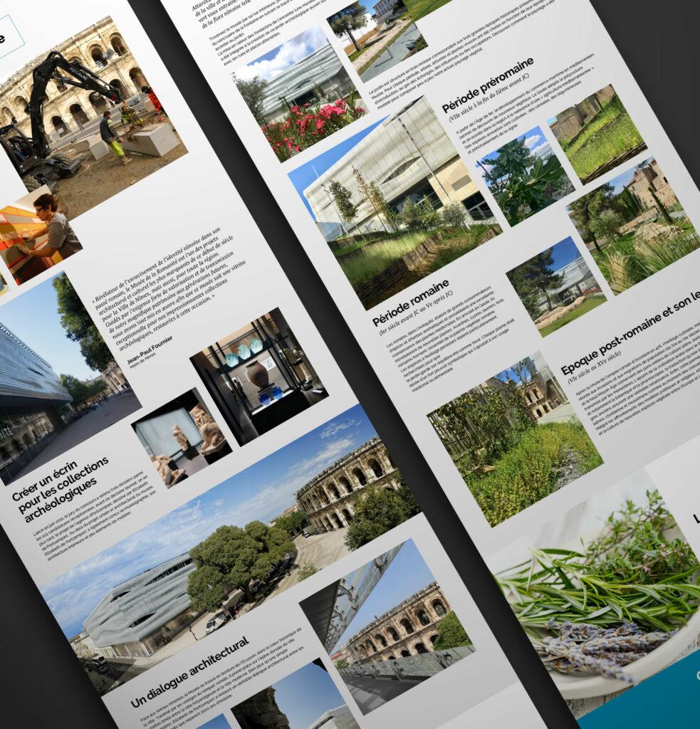 pages du site du musée de la romanité