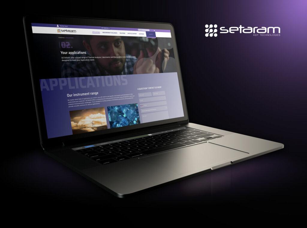 page applications site Setaram