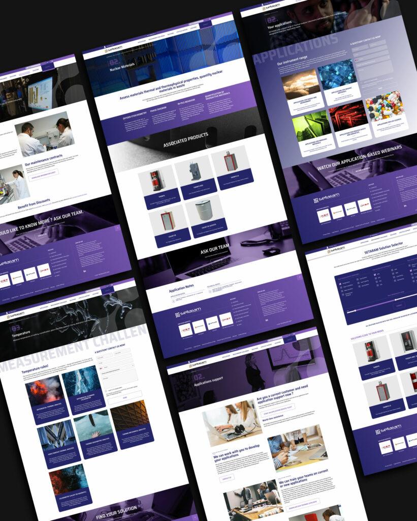 pages du site Setaram