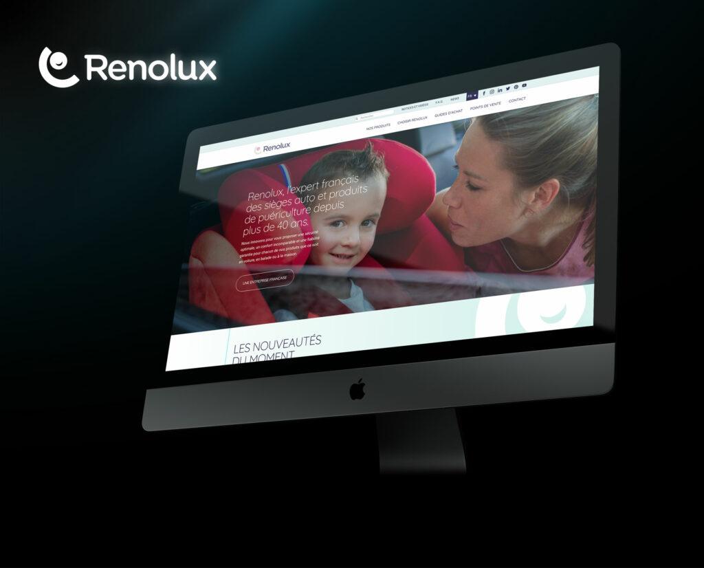 page d'accueil du site Renolux