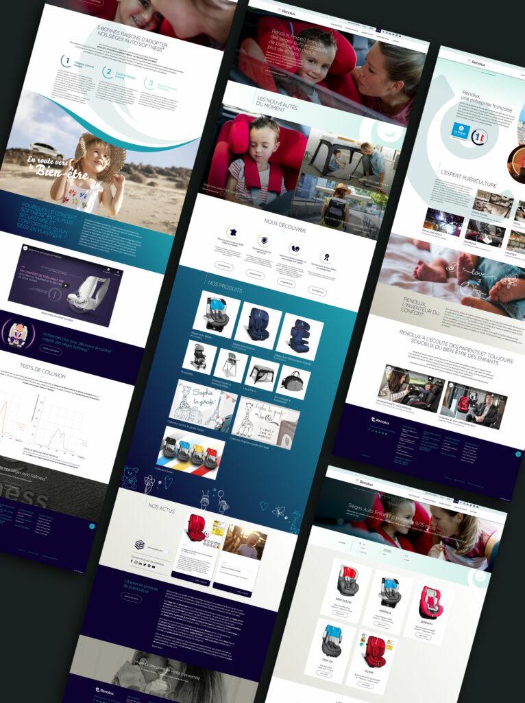 pages du site internet Renolux