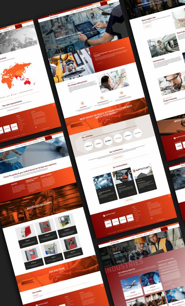 pages du site internet Setsmart