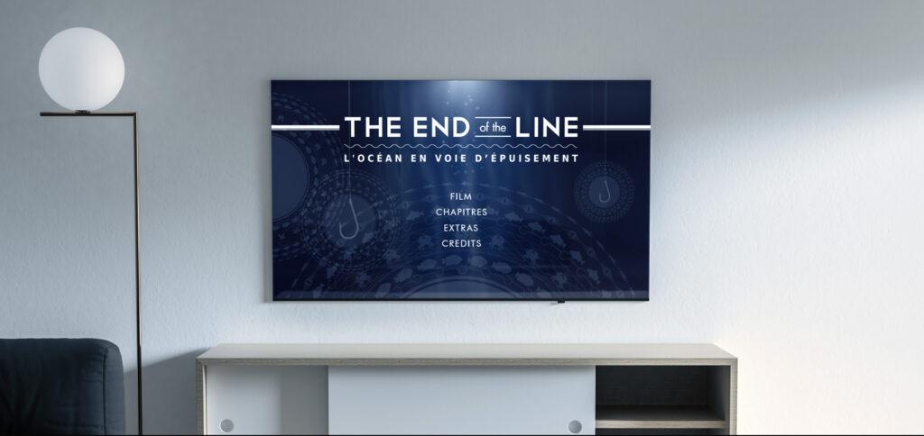 menu principal du DVD du film The End of the line