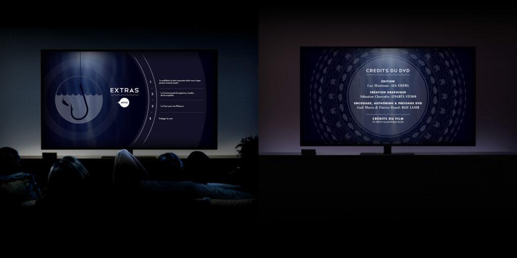 écrans des menus du DVD du film The End of the Line
